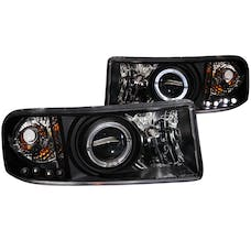 AnzoUSA 111196 Projector Headlights with Halo Black