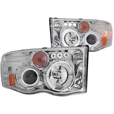 AnzoUSA 111197 Projector Headlights with Halo Chrome G2
