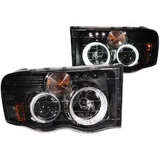 AnzoUSA 111198 Projector Headlights with Halo Black G2