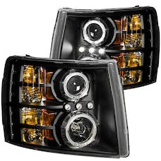 AnzoUSA 111200 Projector Headlights with Halo Black