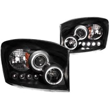 AnzoUSA 111209 Projector Headlights with Halo Black
