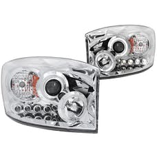AnzoUSA 111210 Projector Headlights with Halo Chrome