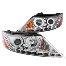 AnzoUSA 111249 Projector Headlights with Halo Chrome (SMD LED)
