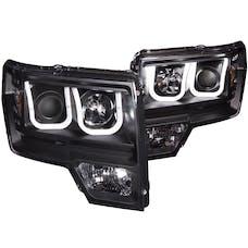 AnzoUSA 111263 Projector Headlights with U-Bar Black