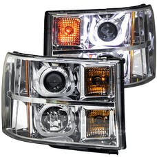 AnzoUSA 111283 Projector Headlights with U-Bar Chrome