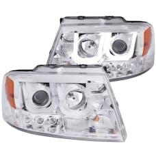 AnzoUSA 111287 Projector Headlights with U-Bar Chrome