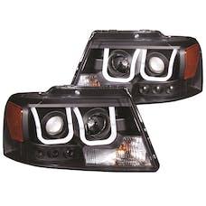 AnzoUSA 111288 Projector Headlights with U-Bar Black