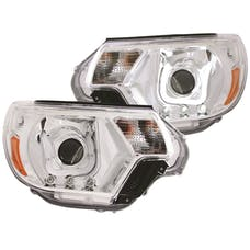 AnzoUSA 111289 Projector Headlights with U-Bar Chrome