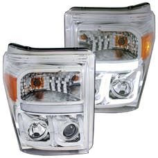 AnzoUSA 111291 Projector Headlights with U-Bar Chrome