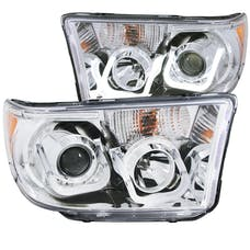 AnzoUSA 111293 Projector Headlights with U-Bar Chrome