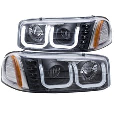 AnzoUSA 111303 Projector Headlights with U-Bar Black