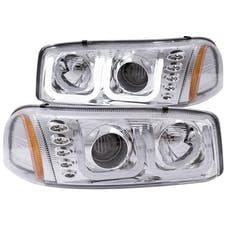 AnzoUSA 111304 Projector Headlights with U-Bar Chrome