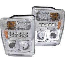 AnzoUSA 111306 Projector Headlights with U-Bar Chrome