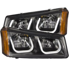 AnzoUSA 111312 Projector Headlights with U-Bar Black