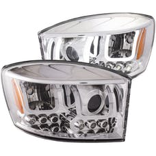 AnzoUSA 111315 Projector Headlights with U-Bar Chrome