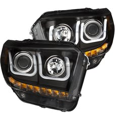 AnzoUSA 111318 Projector Headlights with U-Bar Black