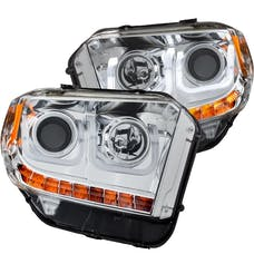 AnzoUSA 111319 Projector Headlights with U-Bar Chrome