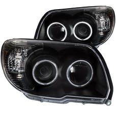 AnzoUSA 111320 Projector Headlights with Halo Black