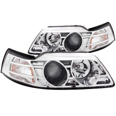 AnzoUSA 121043 Projector Headlights Chrome