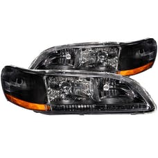AnzoUSA 121052 Crystal Headlights Black