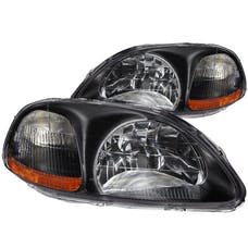 AnzoUSA 121067 Crystal Headlights Black