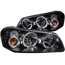 AnzoUSA 121113 Crystal Headlights with Halo Black