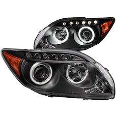 AnzoUSA 121119 Projector Headlights with Halo Black (SMD LED)