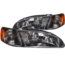 AnzoUSA 121131 Crystal Headlights Black