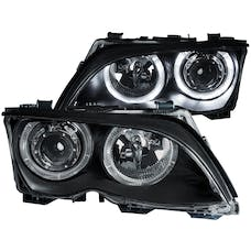 AnzoUSA 121140 Projector Headlights with Halo Black