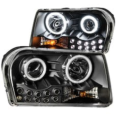 AnzoUSA 121152 Projector Headlights with Halo Black