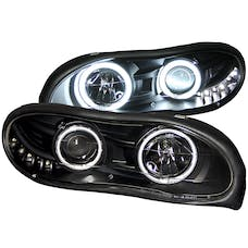 AnzoUSA 121160 Projector Headlights with Halo Black