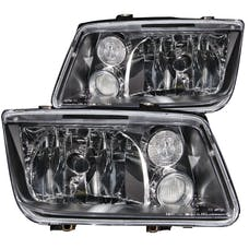 AnzoUSA 121169 Crystal Headlights Black without Bulbs