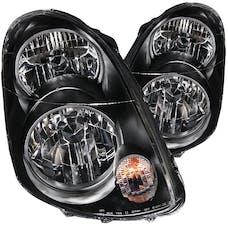 AnzoUSA 121172 Crystal Headlights Black