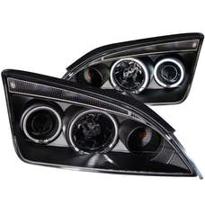 AnzoUSA 121198 Projector Headlights with Halo Black