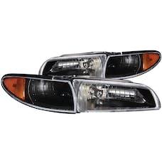 AnzoUSA 121201 Crystal Headlights Black