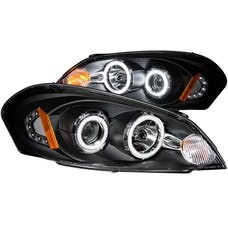 AnzoUSA 121236 Projector Headlights with Halo Black