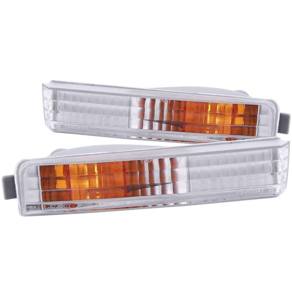 AnzoUSA 511006 Euro Parking Lights Chrome with Amber Reflector
