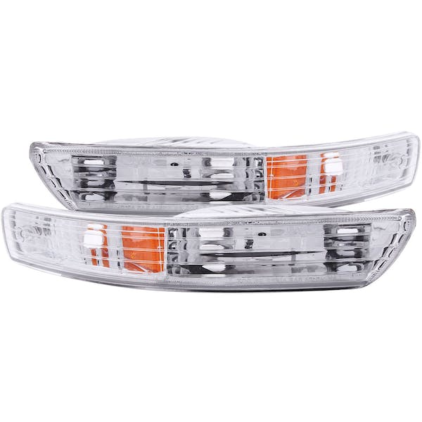 AnzoUSA 511021 Euro Parking Lights Chrome with Amber Reflector