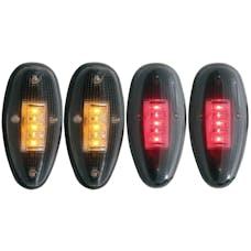 AnzoUSA 861080 LED Fender Light Kit Smoke 2pc Amber / 2pc Red