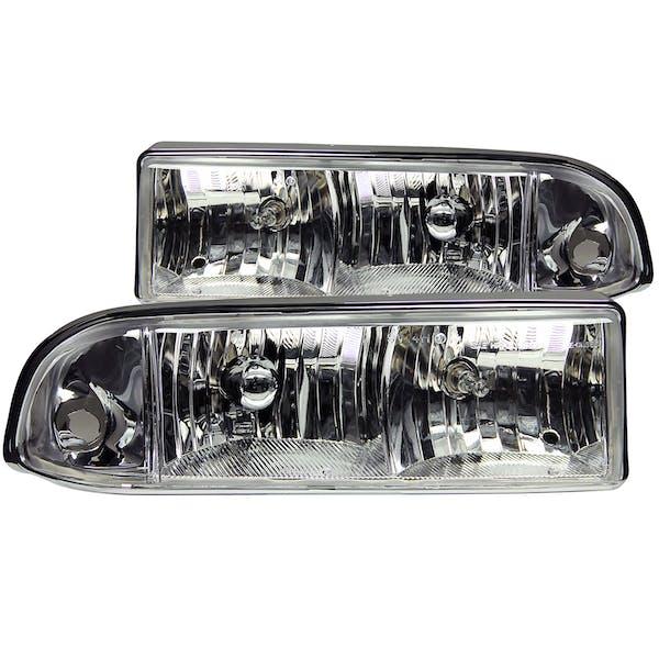 AnzoUSA 111014 Crystal Headlights Chrome