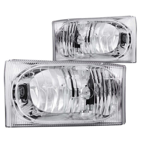 AnzoUSA 111023 Crystal Headlights Chrome 2pc