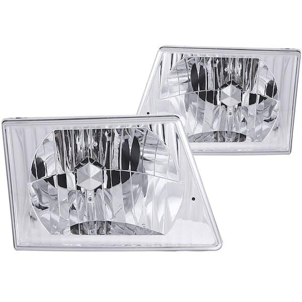 AnzoUSA 111026 Crystal Headlights Chrome