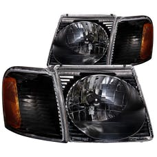 AnzoUSA 111041 Crystal Headlights Black
