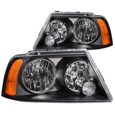 AnzoUSA 111045 Crystal Headlights Black
