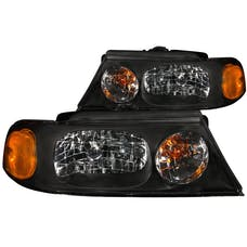 AnzoUSA 111046 Crystal Headlights Black
