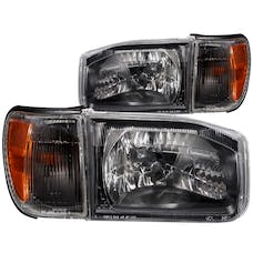 AnzoUSA 111051 Crystal Headlights Black