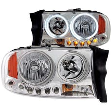 AnzoUSA 111059 Crystal Headlights Chrome 1pc
