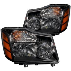 AnzoUSA 111069 Crystal Headlights Black