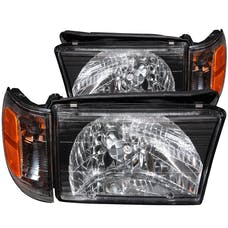 AnzoUSA 111077 Crystal Headlights Black