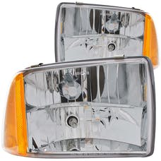 AnzoUSA 111078 Crystal Headlights Chrome 1pc